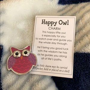 Happy Owl Charm